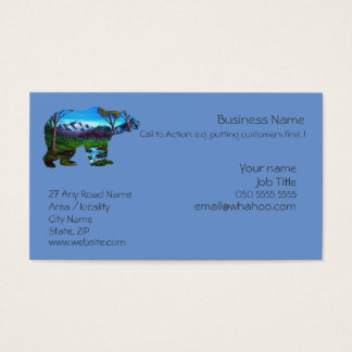 1 sided Generic Bear Name Card