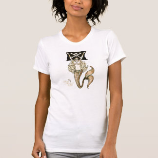 1-Sided Pirate Mermaid  T-shirt ~ by Kat