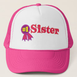 Trucker Hat with #1 Sister Award design
