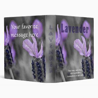 """1"""" Slightly Tinted Lavender Binder"""