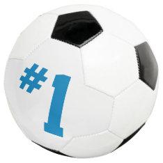 #1 Soccer Ball at Zazzle