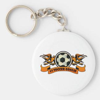 #1 Soccer Goalie Keychain