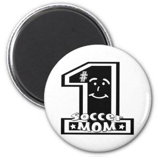 #1 Soccer Mom 2 Inch Round Magnet