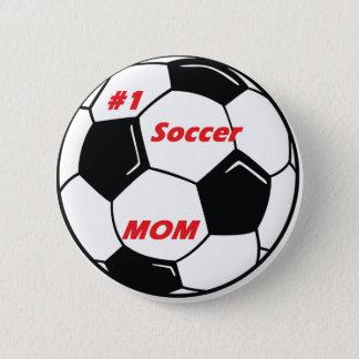 #1 Soccer Mom Button