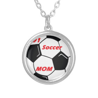 #1 Soccer Mom Silver Plated Necklace