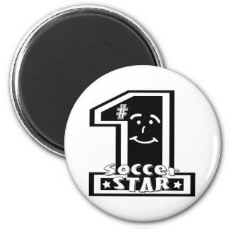 #1 Soccer Star 2 Inch Round Magnet