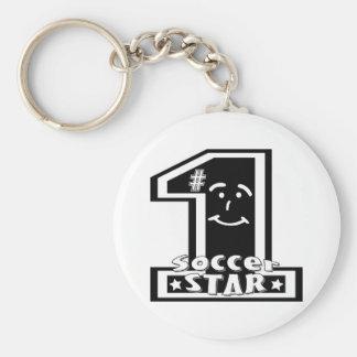 #1 Soccer Star Keychain