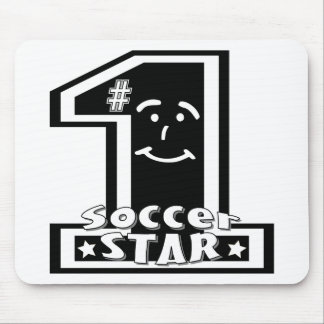 #1 Soccer Star Mouse Pad