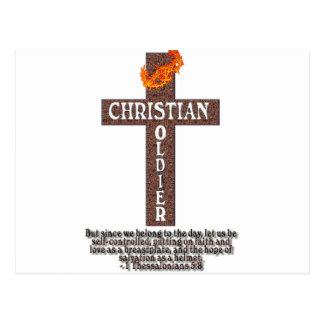 1 SOLDADO DEL CRISTIANO DEL 5:8 DE THESSALONIANS POSTALES