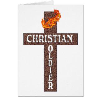 1 SOLDADO DEL CRISTIANO DEL 5:8 DE THESSALONIANS TARJETA DE FELICITACIÓN