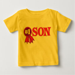 Baby Fine Jersey T-Shirt with #1 Son Award design
