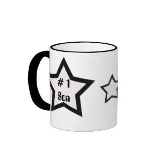 # 1 Son, black and white star mug