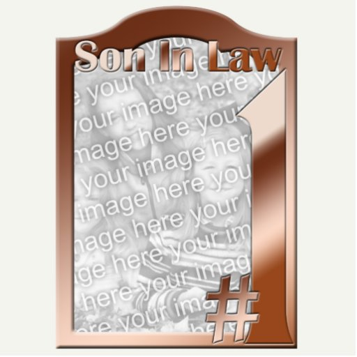 #1 Son In Law Copper Photo Frame Sculpture