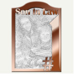 #1 Son In Law Copper Photo Frame Sculpture Standing Photo Sculpture