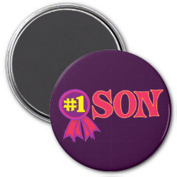 Round Magnet with #1 Son Award design