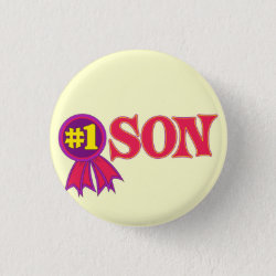 Round Button with #1 Son Award design