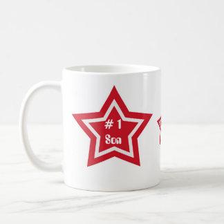 # 1 Son, red and white star mug
