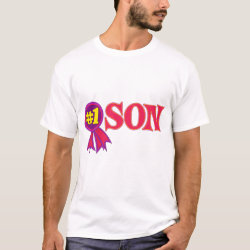 Men's Basic T-Shirt with #1 Son Award design