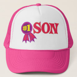 Trucker Hat with #1 Son Award design