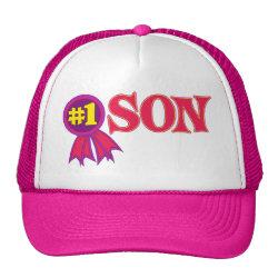 Trucker Hat with #1 Son Award design