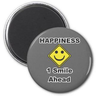 1 sonrisa a continuación iman de nevera
