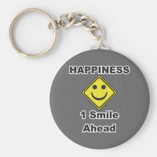 1 sonrisa a continuación llavero