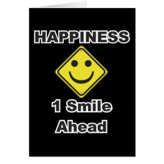 1 sonrisa a continuación tarjeta de felicitación