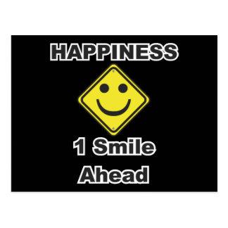1 sonrisa a continuación tarjetas postales
