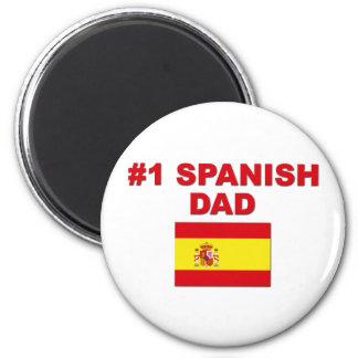 #1 Spanish Dad 2 Inch Round Magnet