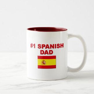 #1 Spanish Dad Coffee Mugs