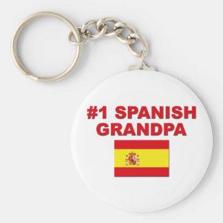 #1 Spanish Grandpa Basic Round Button Keychain