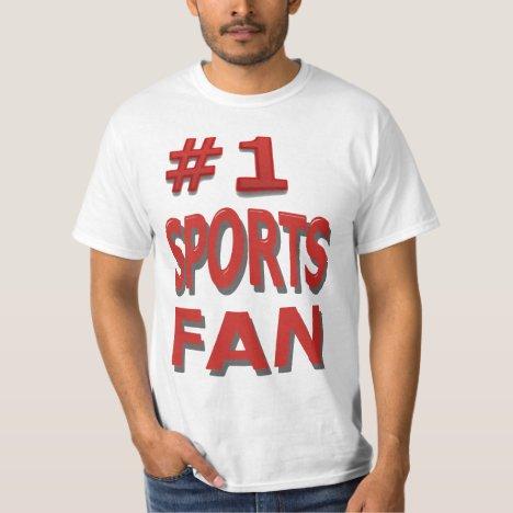 #1 Sports Fan T-Shirt