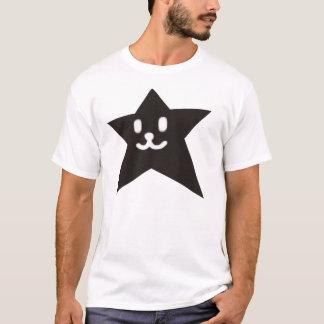 1 STAR FACE SMILEY BLACK T-Shirt