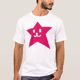 1 STAR FACE SMILEY RED T-Shirt