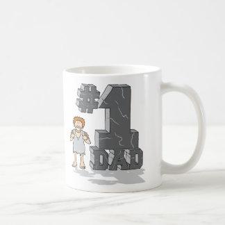 #1 Stone Age Dad Classic White Coffee Mug