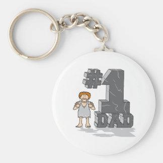 #1 Stone Age Dad Key Chains
