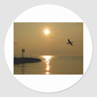 #1 Sunset Menemsha Martha's Vineyard Classic Round Sticker