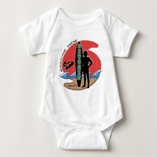 #1 Survived Hurricane Irene Baby Bodysuit