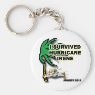 #1 Survived Hurricane Irene Basic Round Button Keychain
