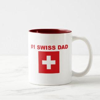 #1 Swiss Dad Two-Tone Coffee Mug