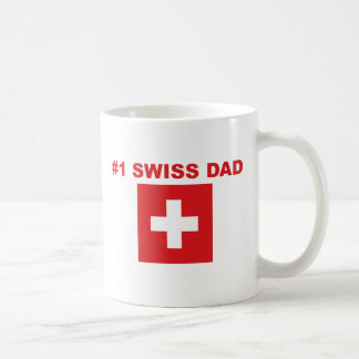 #1 Swiss Dad Classic White Coffee Mug
