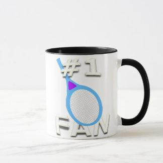 # 1 taza de la fan de tenis (estafa azul clara)