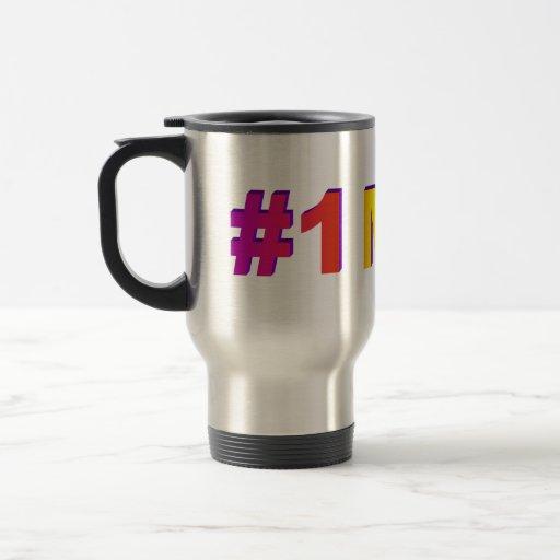 #1 taza del coche del arco iris de la mamá 3D