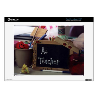 #1 Teacher Acer Chromebook Computer Skin Skin For Acer Chromebook