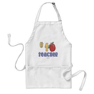 #1 Teacher Adult Apron