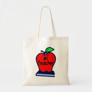 #1 Teacher (Apple/Book) Tote Bag