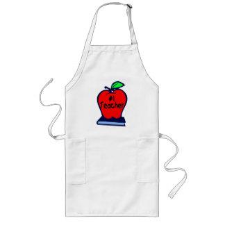 #1 Teacher (Apple/Books) Apron