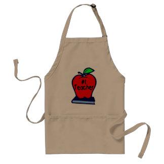 #1 Teacher (Apple/Books) Aprons