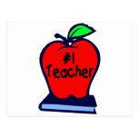 #1 Teacher (Apple/Books) Post Card