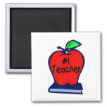 #1 Teacher (Apple/Books) Refrigerator Magnet